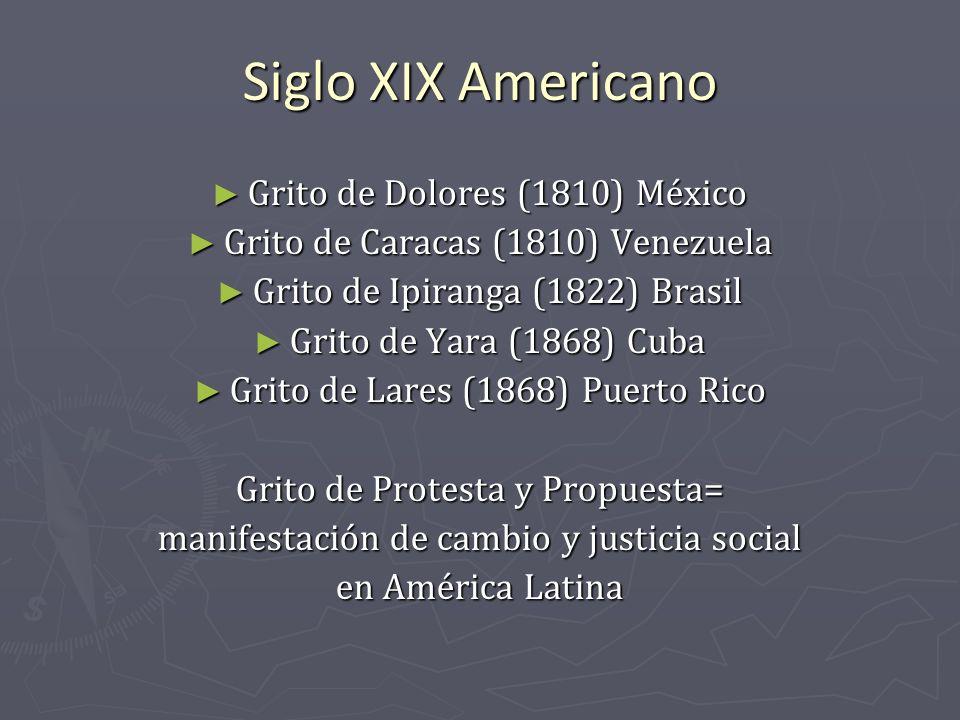 Siglo XIX Americano Grito de Dolores (1810) México