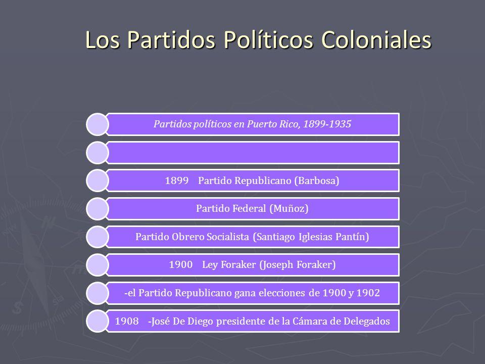 Los Partidos Políticos Coloniales