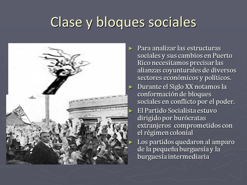 Clase y bloques sociales