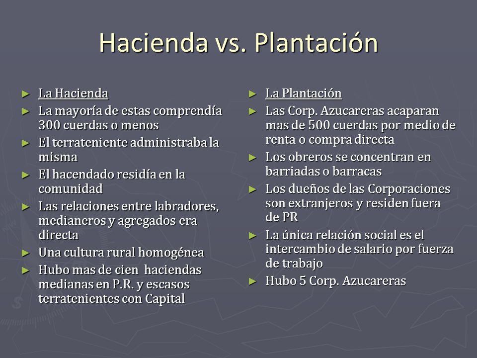 Hacienda vs. Plantación
