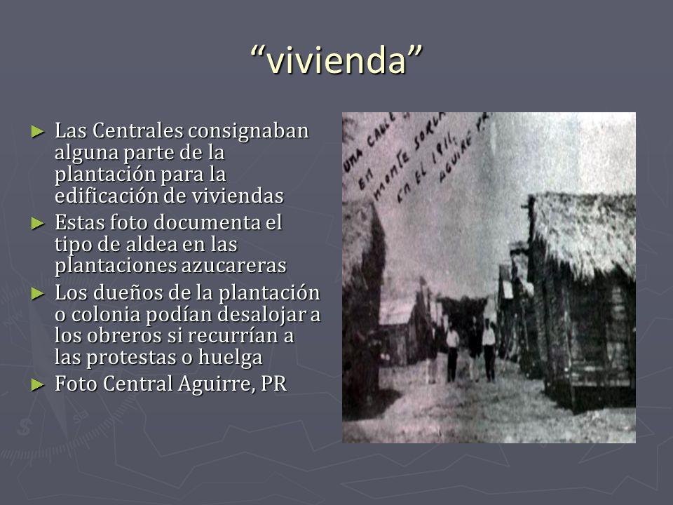 vivienda Las Centrales consignaban alguna parte de la plantación para la edificación de viviendas.