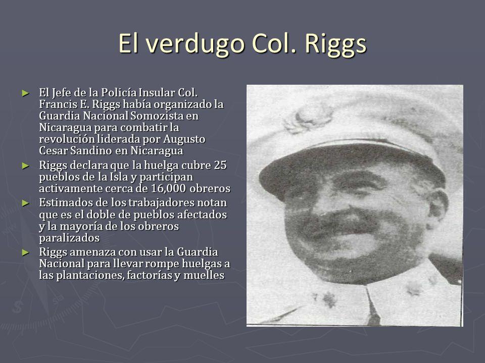 El verdugo Col. Riggs
