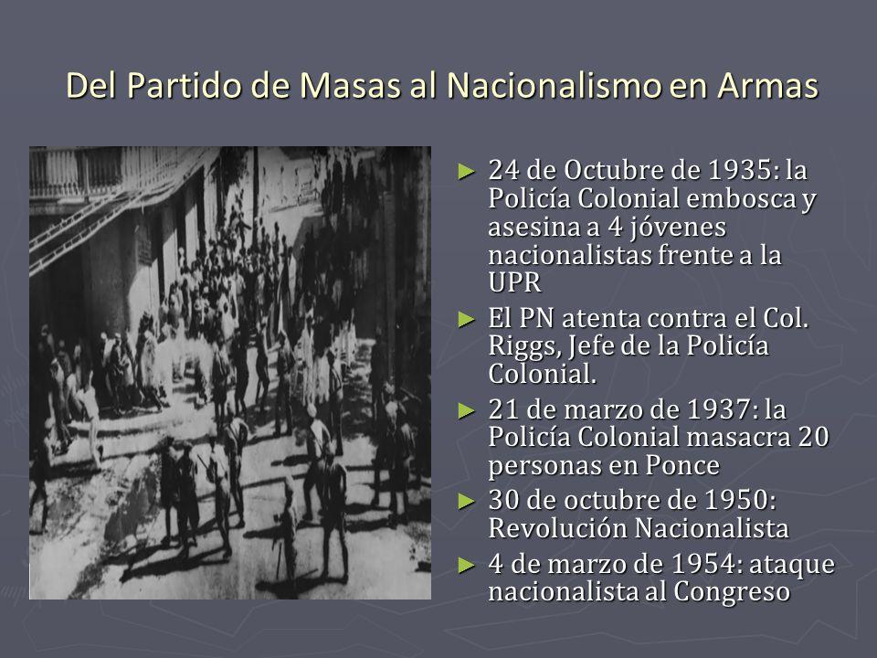 Del Partido de Masas al Nacionalismo en Armas
