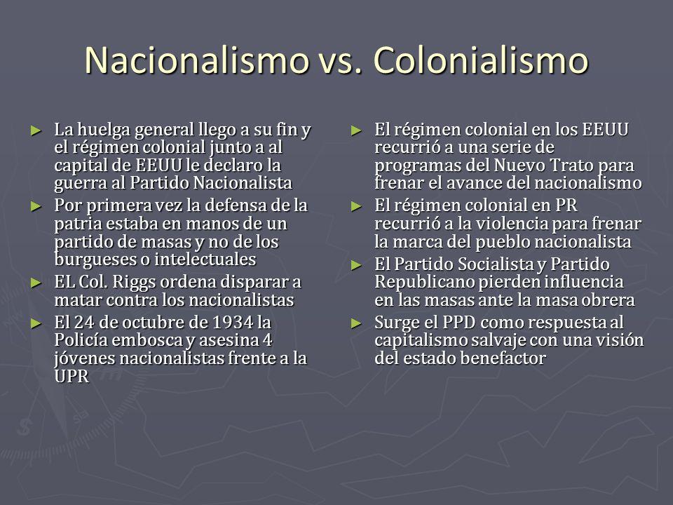 Nacionalismo vs. Colonialismo
