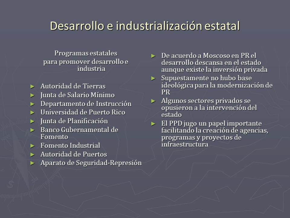 Desarrollo e industrialización estatal