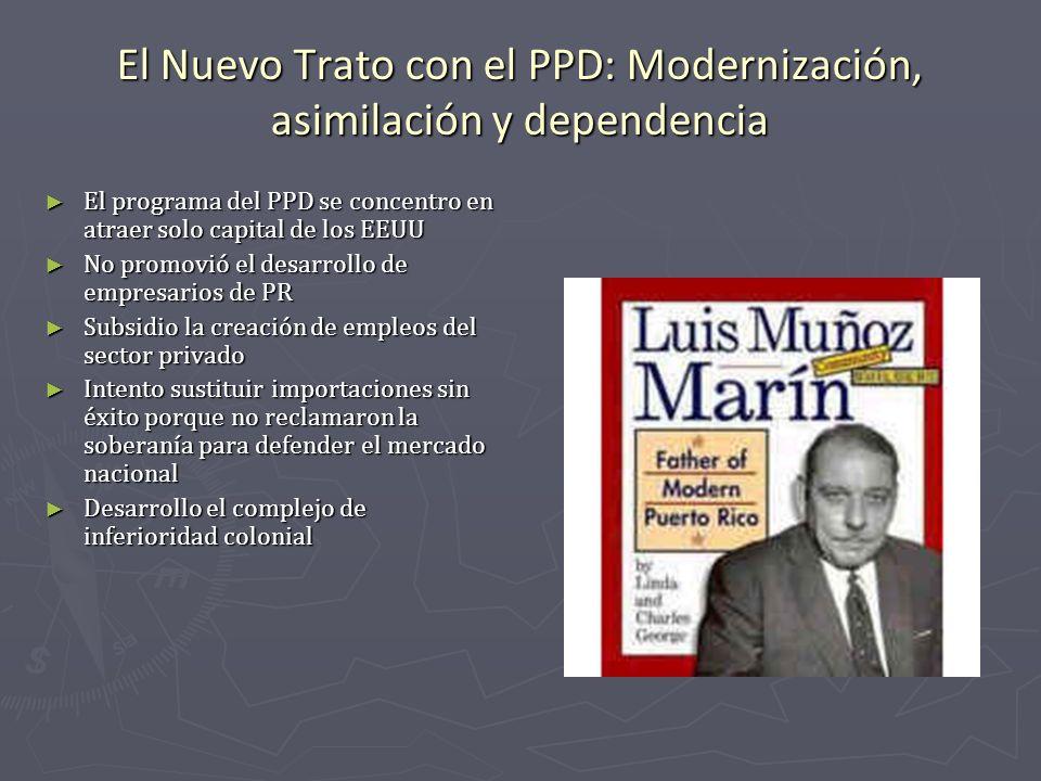 El Nuevo Trato con el PPD: Modernización, asimilación y dependencia