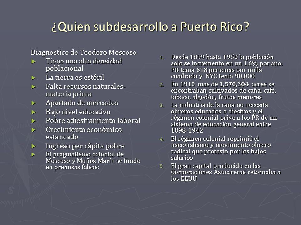 ¿Quien subdesarrollo a Puerto Rico