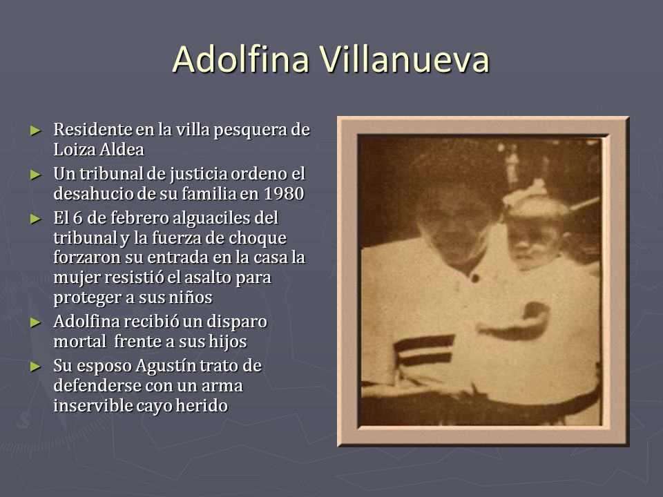 Adolfina Villanueva Residente en la villa pesquera de Loiza Aldea