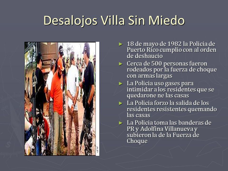 Desalojos Villa Sin Miedo