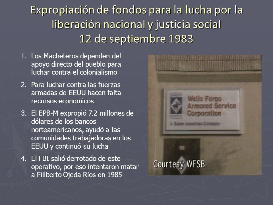 Expropiación de fondos para la lucha por la liberación nacional y justicia social 12 de septiembre 1983