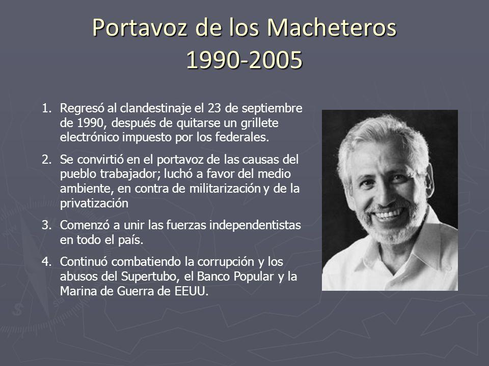 Portavoz de los Macheteros 1990-2005