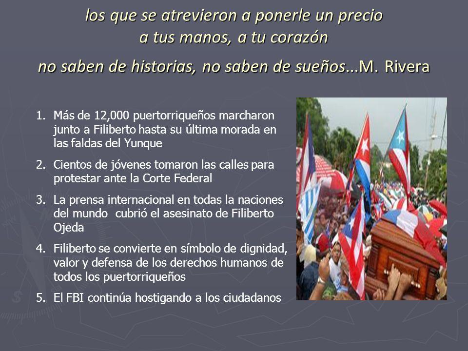 los que se atrevieron a ponerle un precio a tus manos, a tu corazón no saben de historias, no saben de sueños...M. Rivera