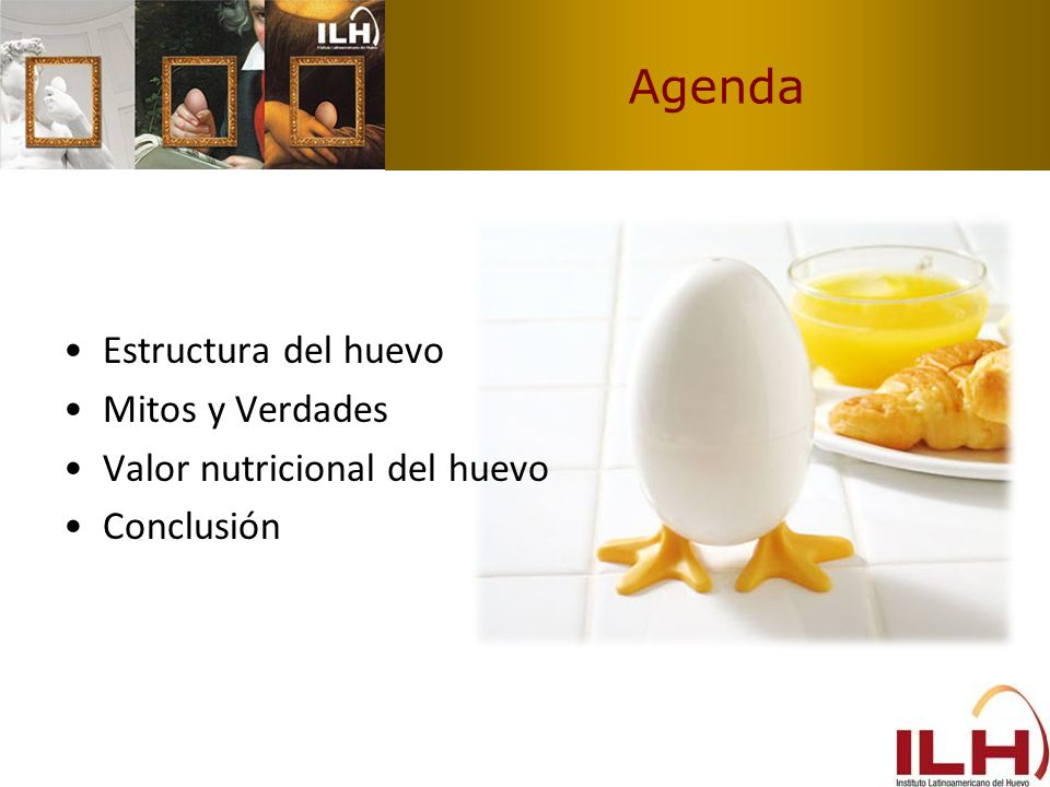 Agenda Estructura del huevo Mitos y Verdades