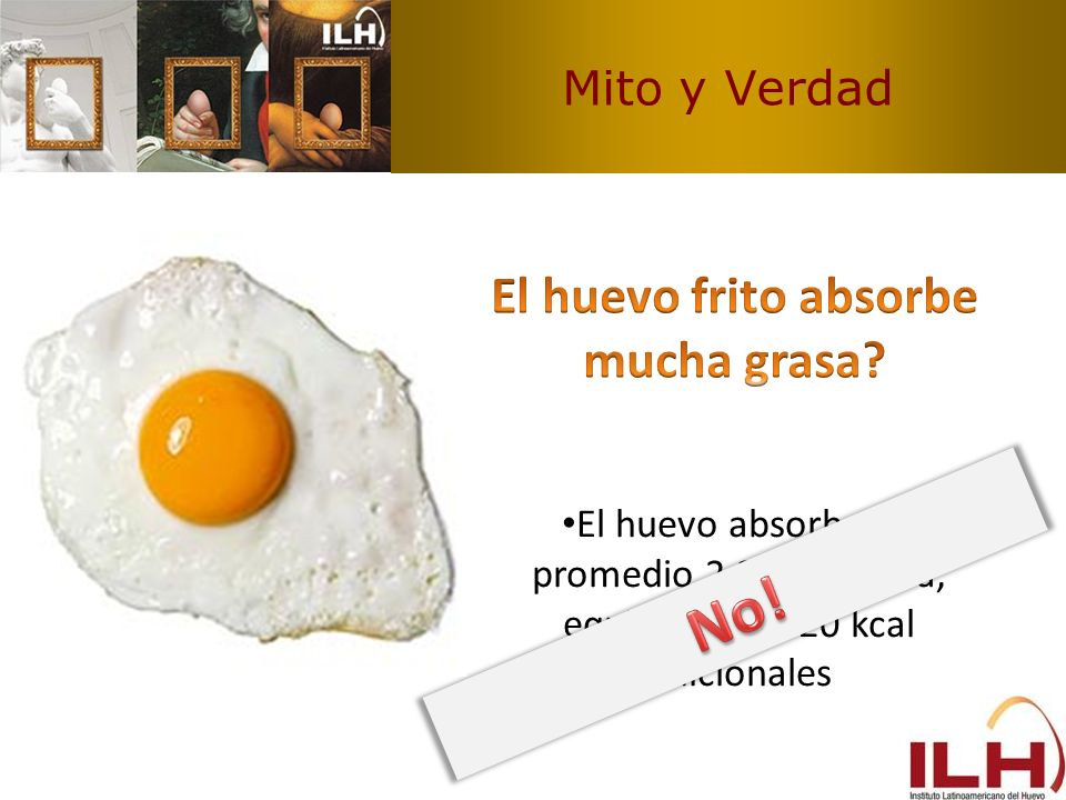El huevo frito absorbe mucha grasa