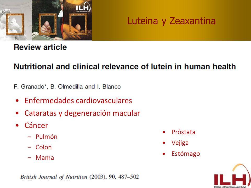 Luteina y Zeaxantina Enfermedades cardiovasculares