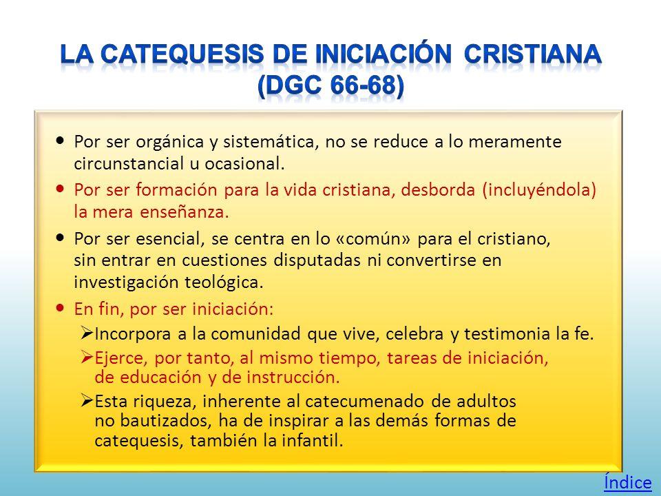 La Catequesis de Iniciación Cristiana (DGC 66-68)