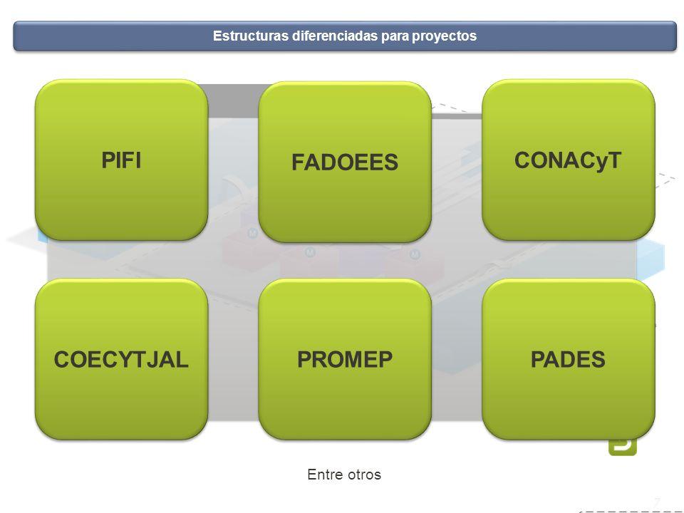 Estructuras diferenciadas para proyectos