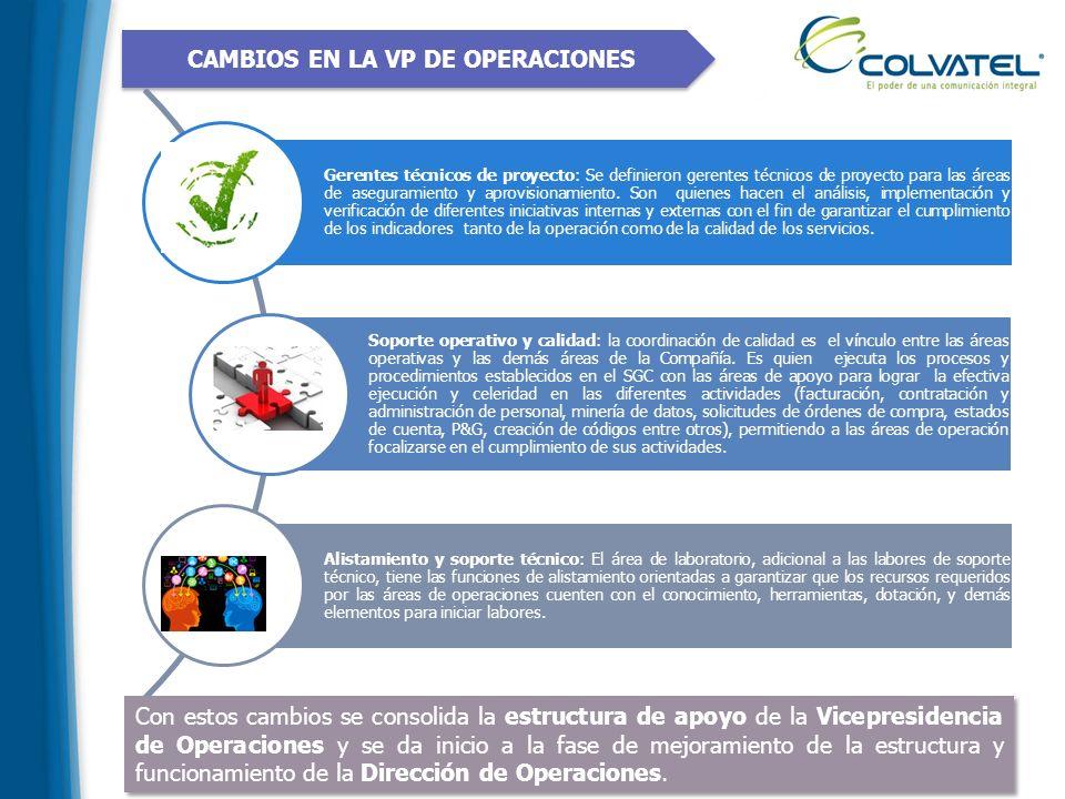 CAMBIOS EN LA VP DE OPERACIONES