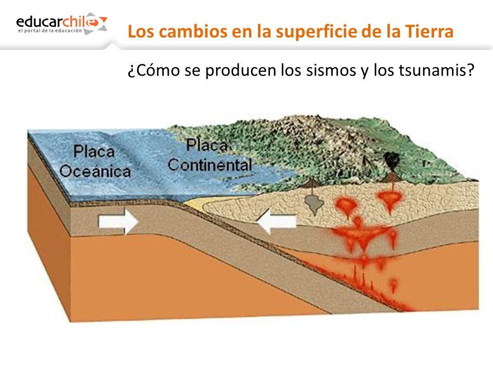 Los cambios en la superficie de la Tierra