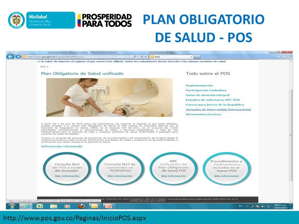 PLAN OBLIGATORIO DE SALUD - POS
