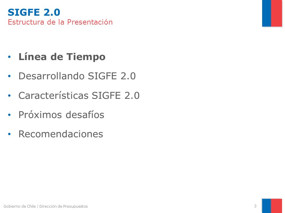 SIGFE 2.0 Estructura de la Presentación