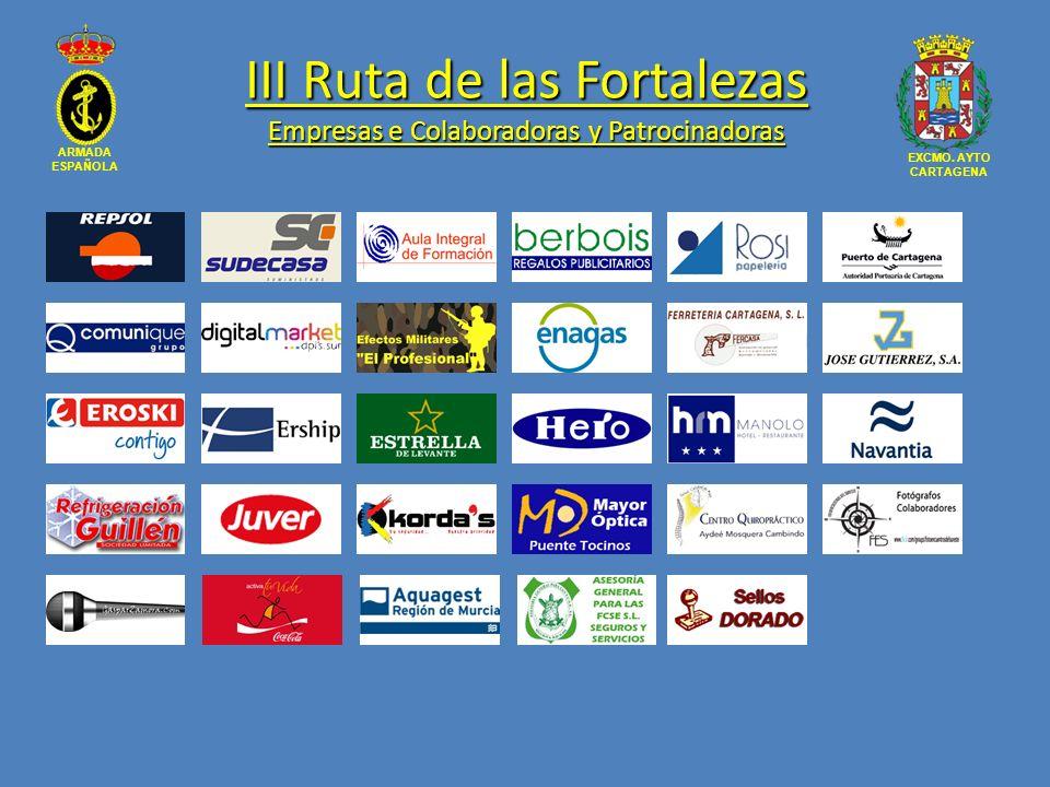 III Ruta de las Fortalezas Empresas e Colaboradoras y Patrocinadoras