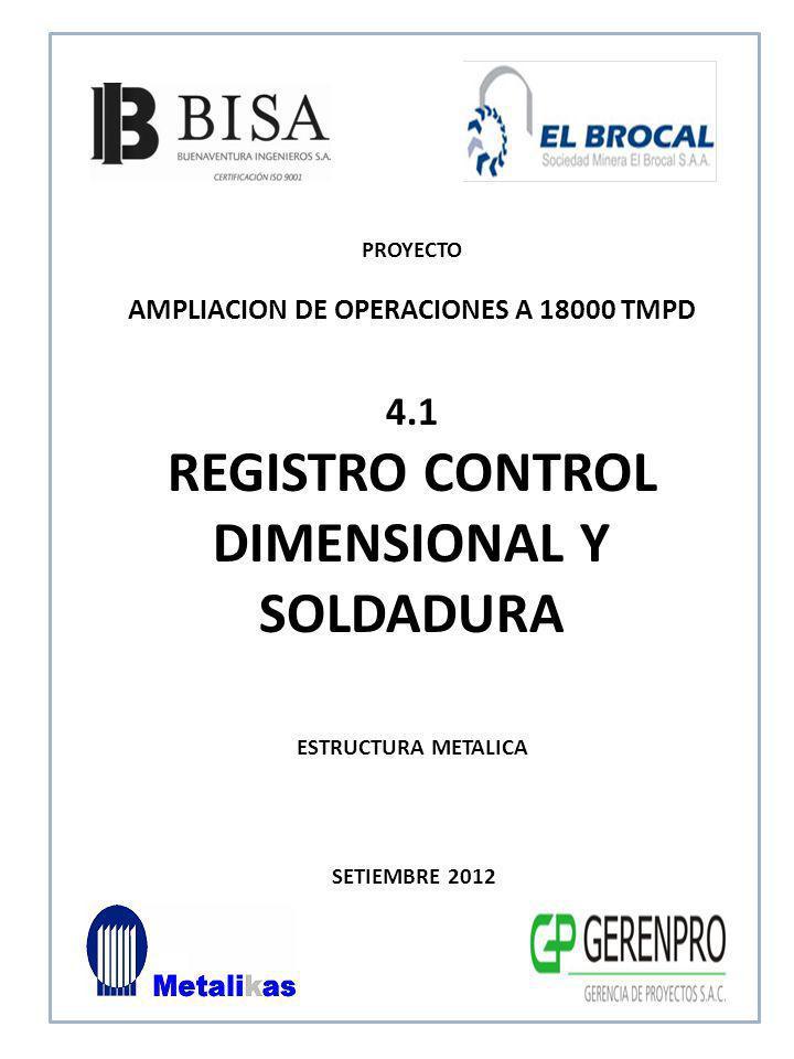 REGISTRO CONTROL DIMENSIONAL Y SOLDADURA