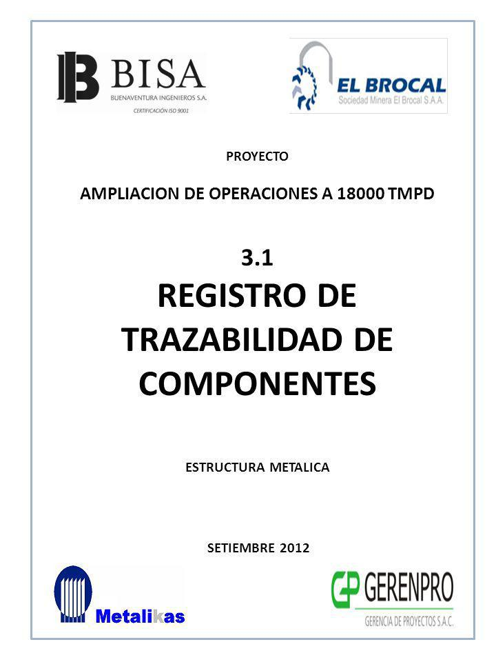 REGISTRO DE TRAZABILIDAD DE COMPONENTES