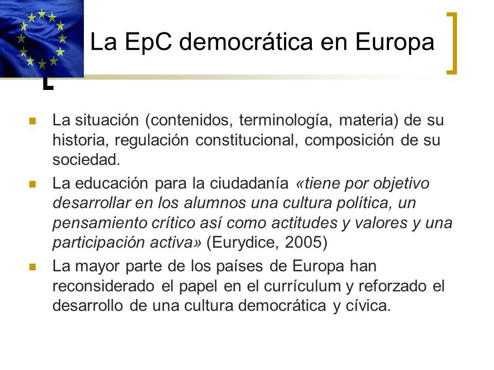 La EpC democrática en Europa