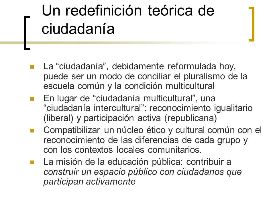Un redefinición teórica de ciudadanía