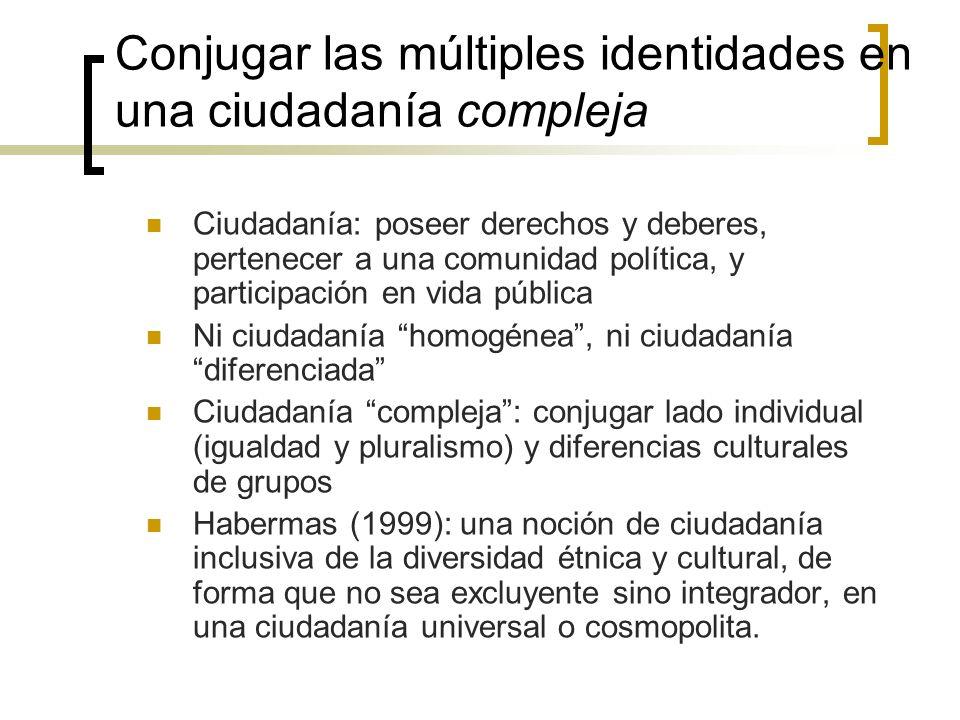 Conjugar las múltiples identidades en una ciudadanía compleja