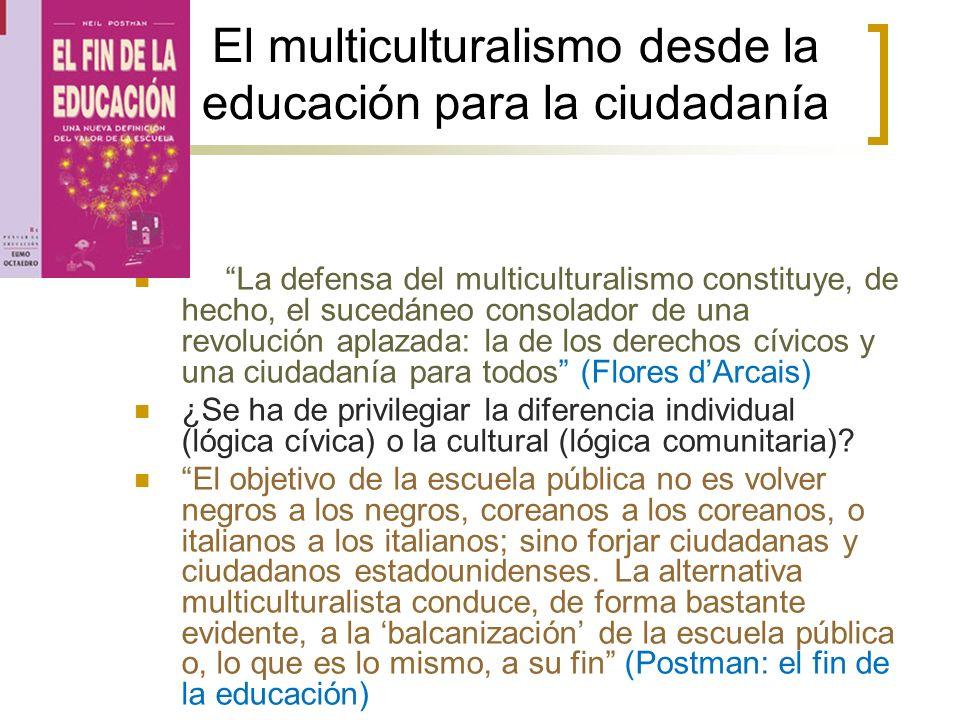 El multiculturalismo desde la educación para la ciudadanía
