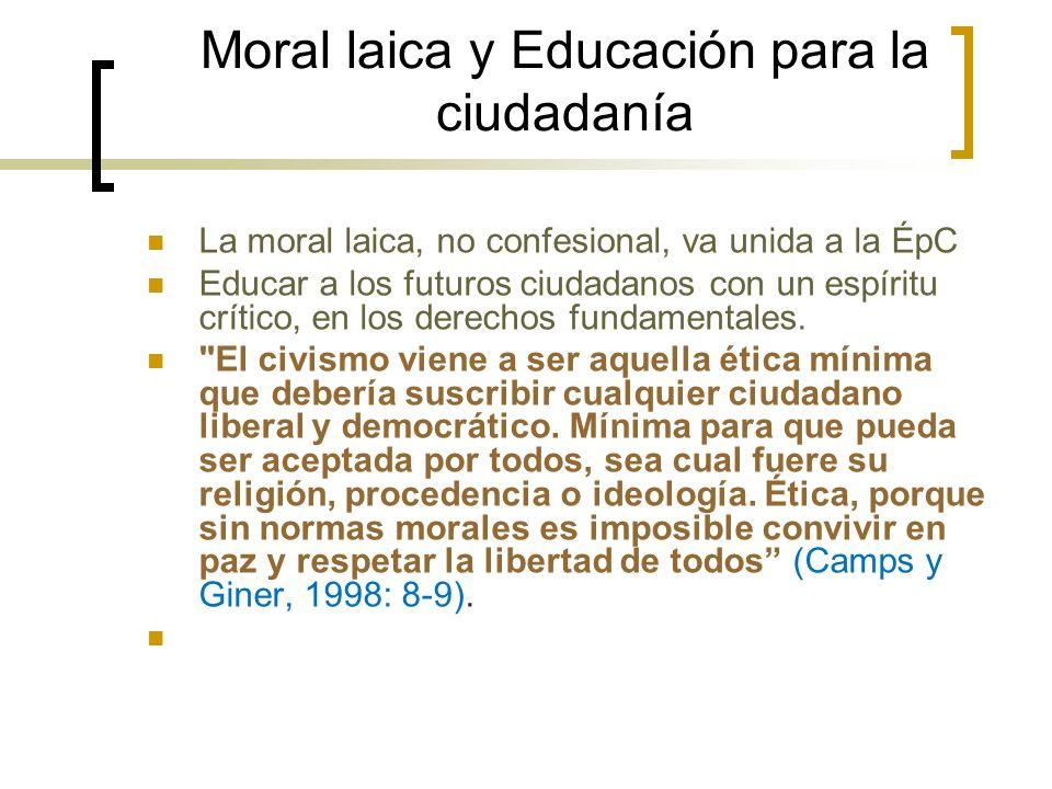 Moral laica y Educación para la ciudadanía