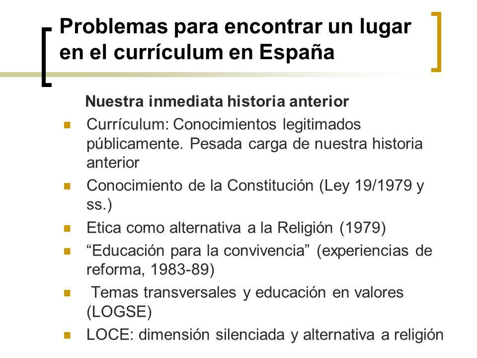 Problemas para encontrar un lugar en el currículum en España