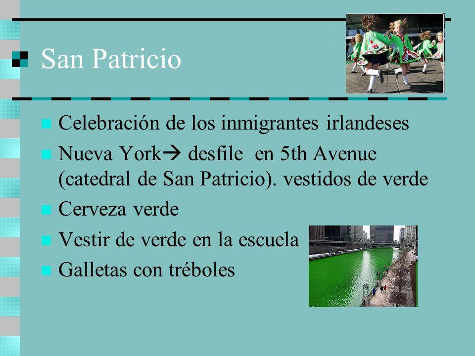 San Patricio Celebración de los inmigrantes irlandeses