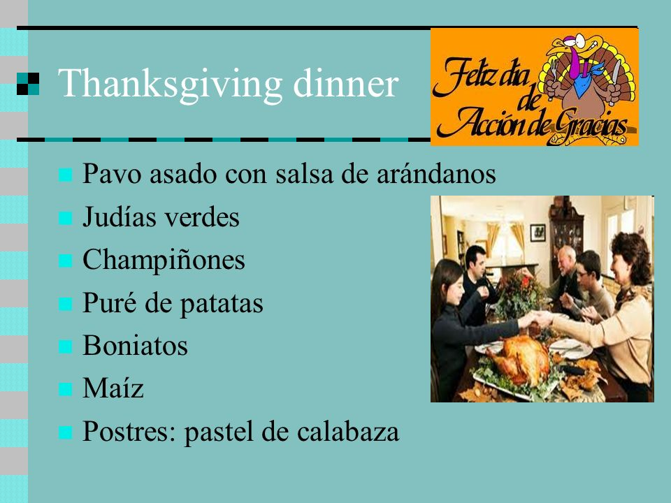 Thanksgiving dinner Pavo asado con salsa de arándanos Judías verdes