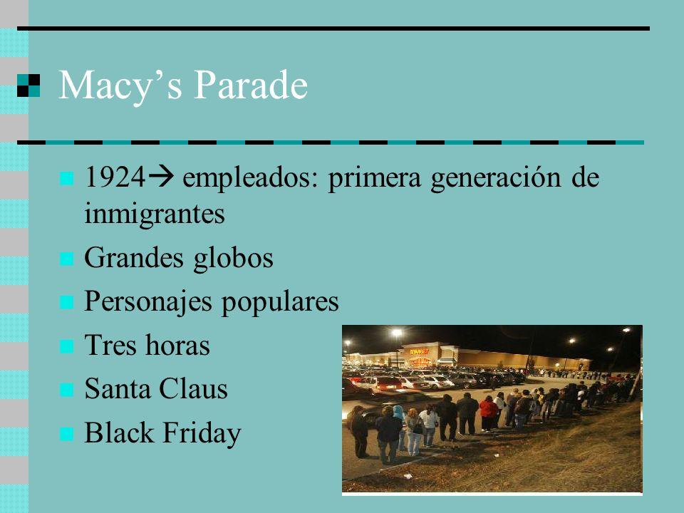Macy's Parade 1924 empleados: primera generación de inmigrantes