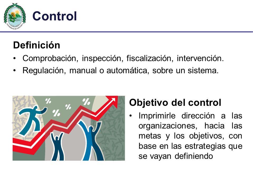 Control Definición Objetivo del control