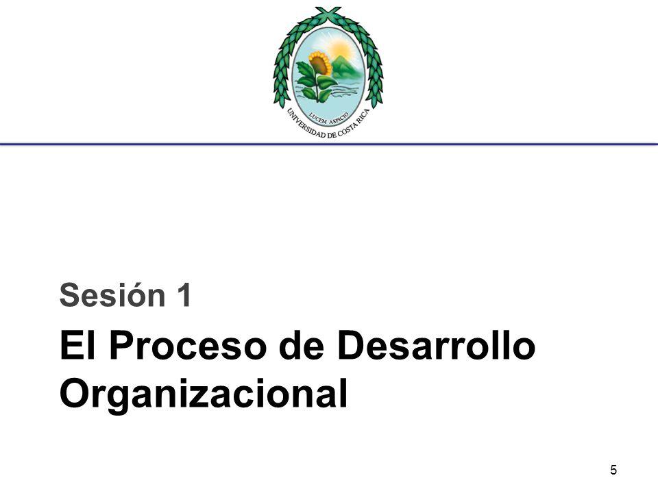 El Proceso de Desarrollo Organizacional