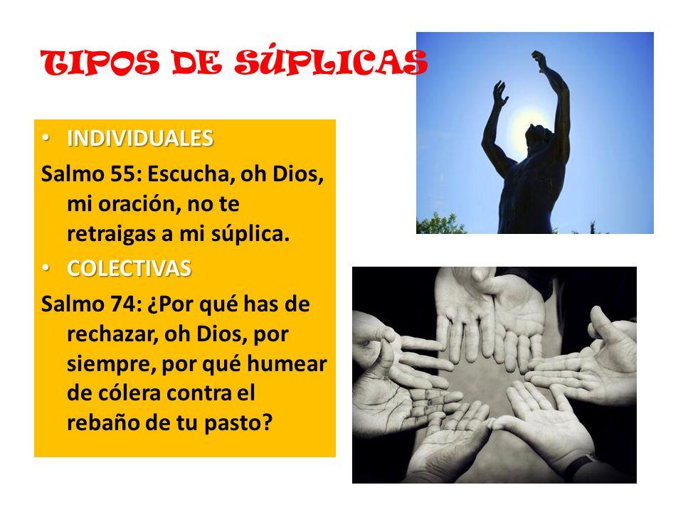 TIPOS DE SÚPLICAS INDIVIDUALES
