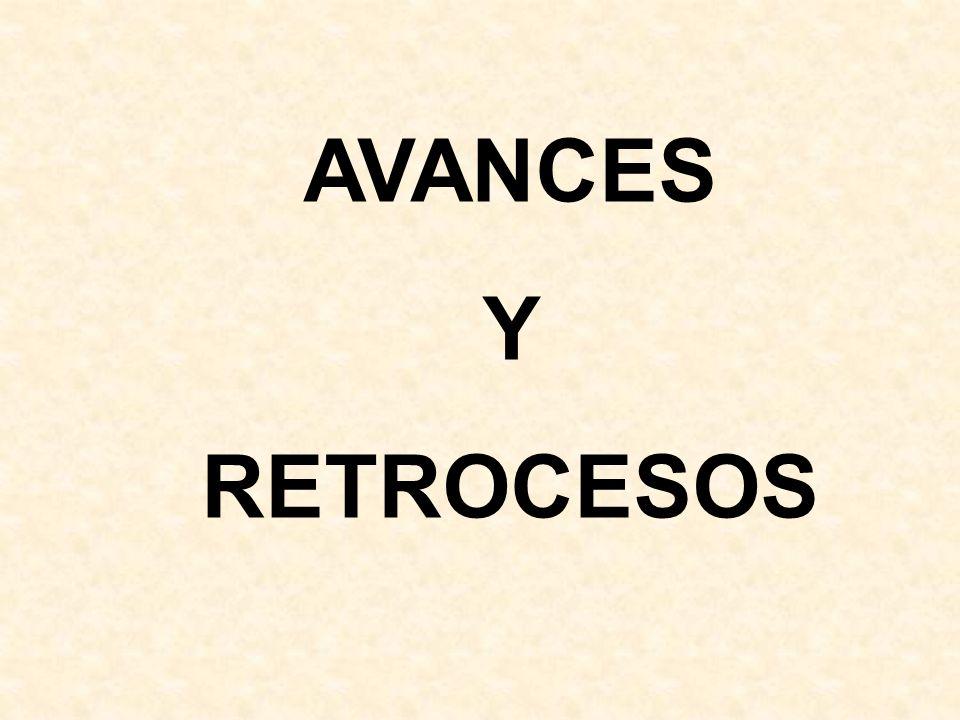 AVANCES Y RETROCESOS