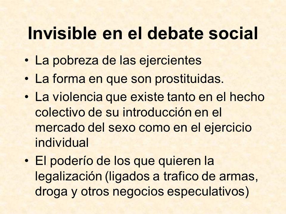 Invisible en el debate social