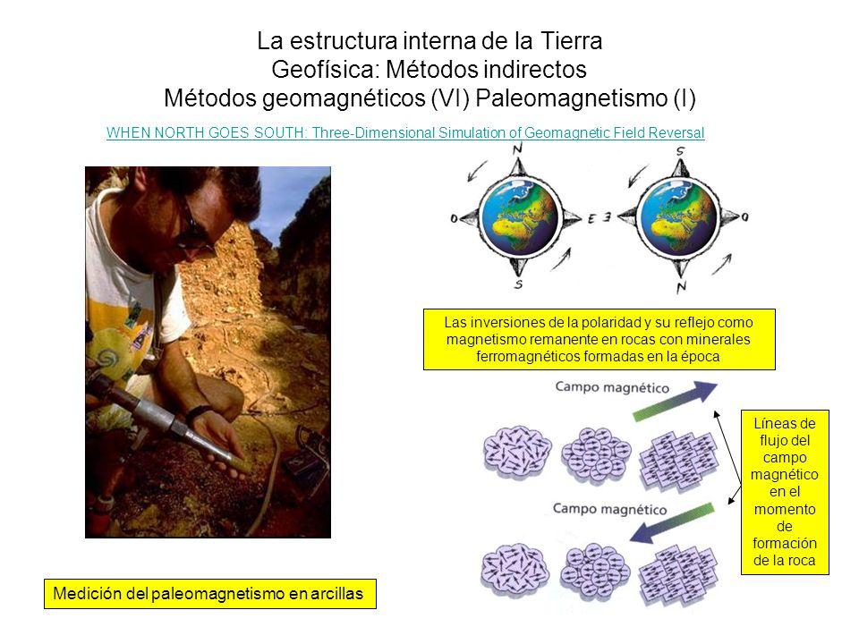 La estructura interna de la Tierra Geofísica: Métodos indirectos Métodos geomagnéticos (VI) Paleomagnetismo (I)