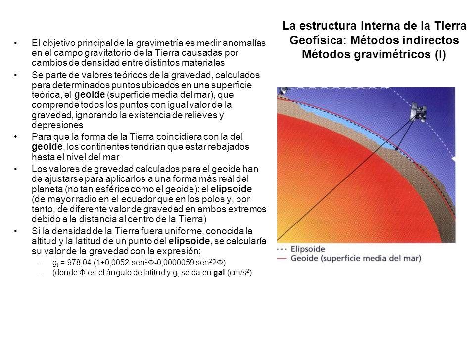 La estructura interna de la Tierra Geofísica: Métodos indirectos Métodos gravimétricos (I)
