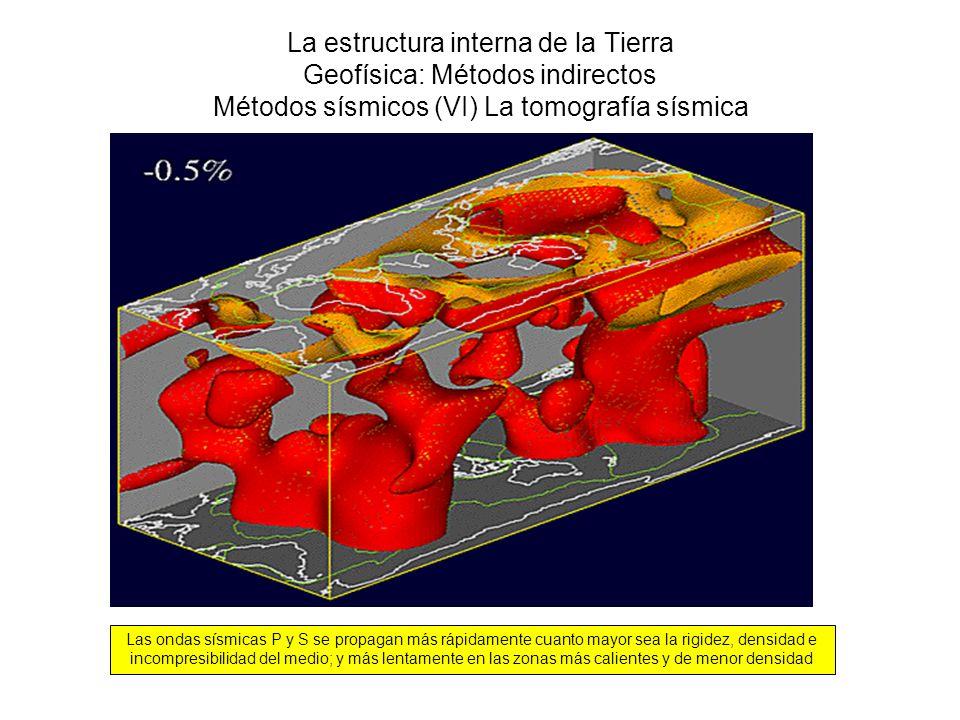 La estructura interna de la Tierra Geofísica: Métodos indirectos Métodos sísmicos (VI) La tomografía sísmica