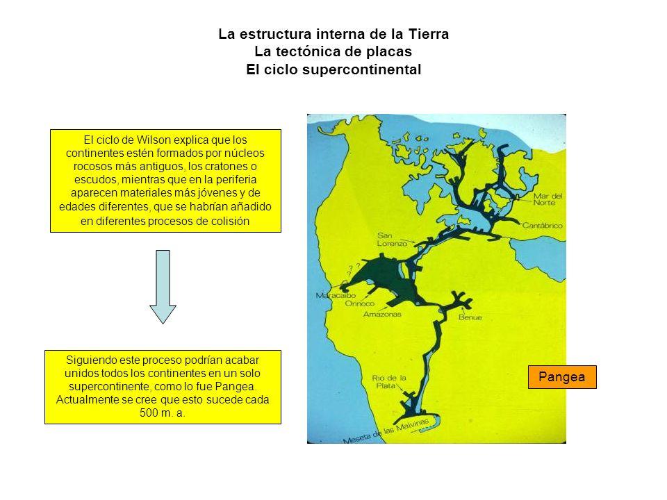 La estructura interna de la Tierra La tectónica de placas El ciclo supercontinental