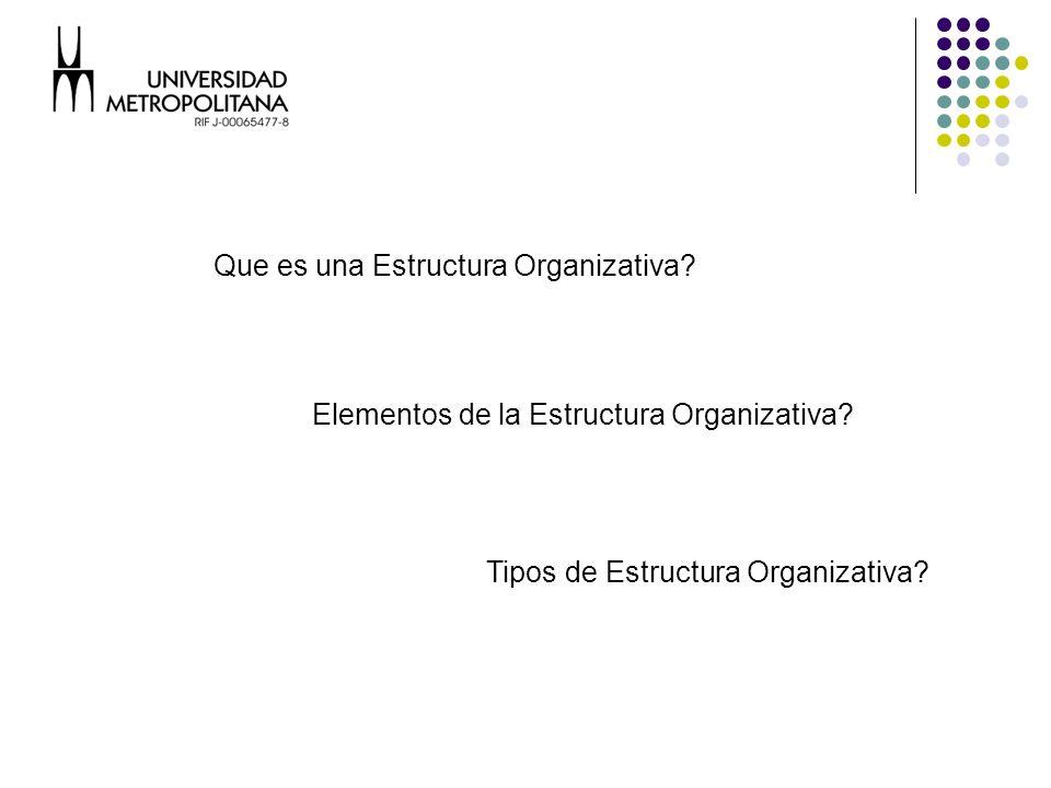 Que es una Estructura Organizativa