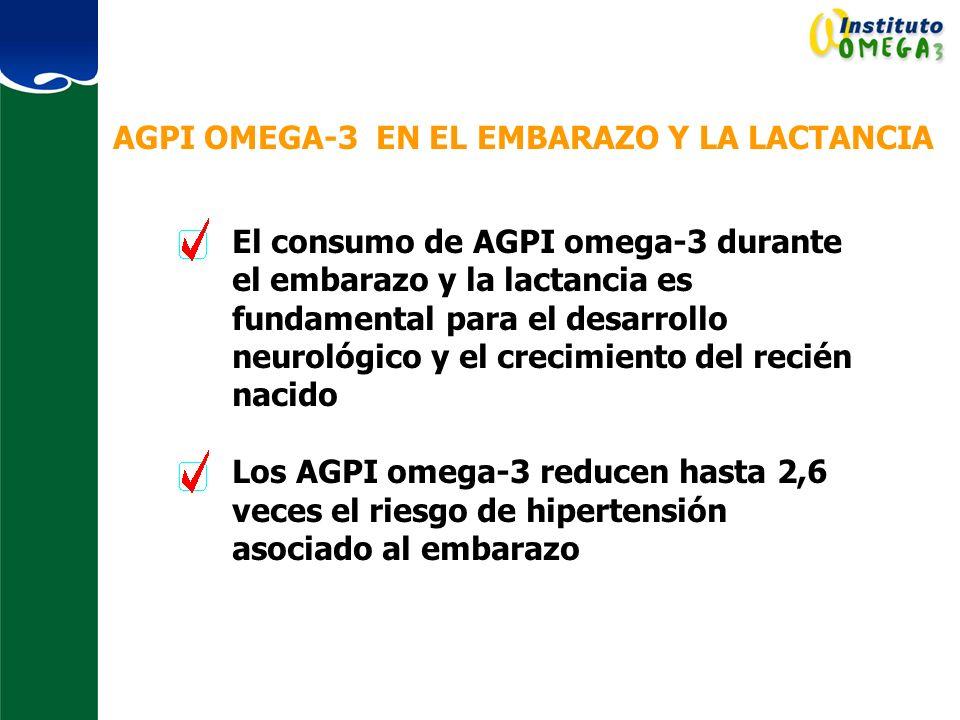 AGPI OMEGA-3 EN EL EMBARAZO Y LA LACTANCIA