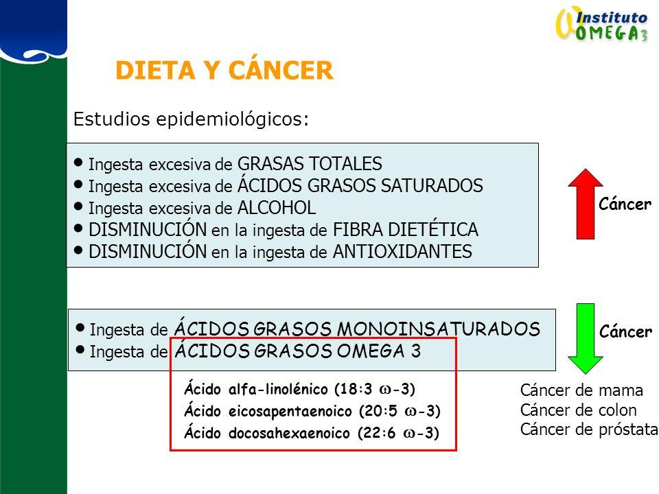 DIETA Y CÁNCER Estudios epidemiológicos: