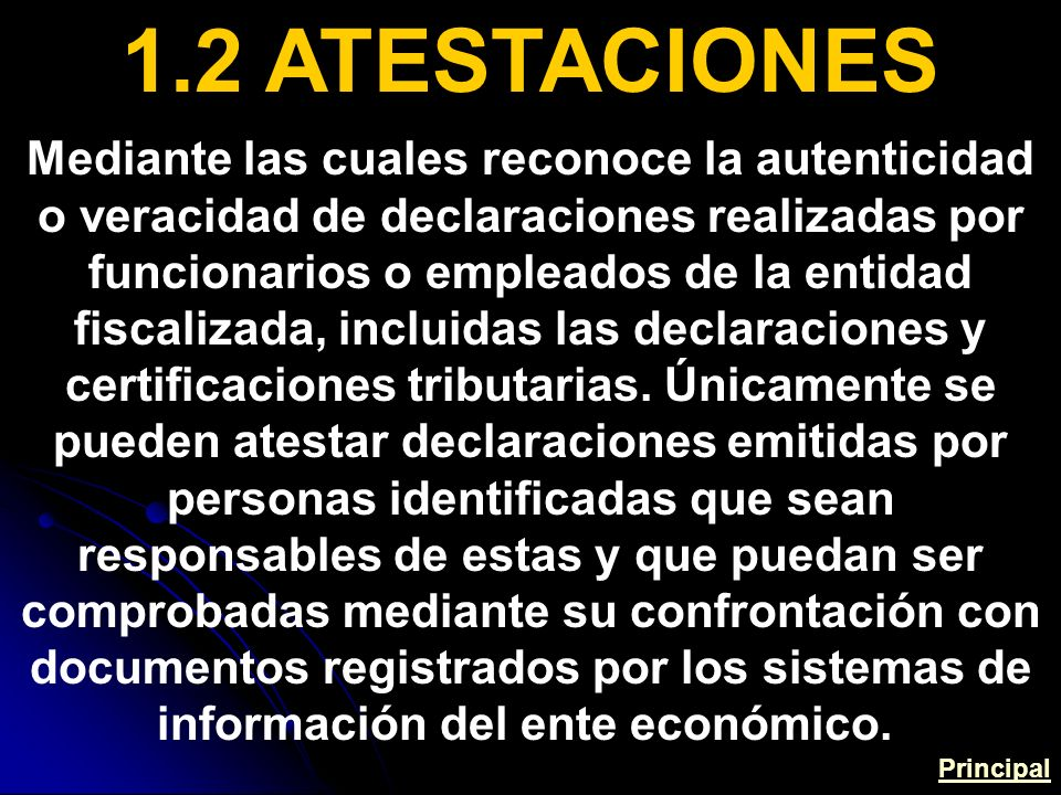 1.2 ATESTACIONES